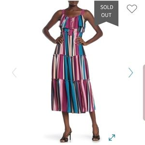 Taylor Sleeveless Striped Midi Dress
